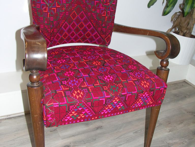 Refection of a bridge chair - Fabric chine