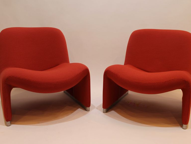 Complete réfection of model Alky armchairs by Giancarlo Piretti for Castelli, original model from 1969 - Fabric éditor Kvadrat