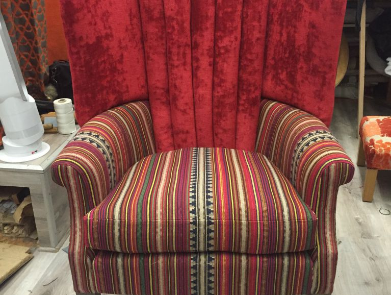 Complete réfection of a Slice Chair - Fabric editor Mulberry Home Stripes