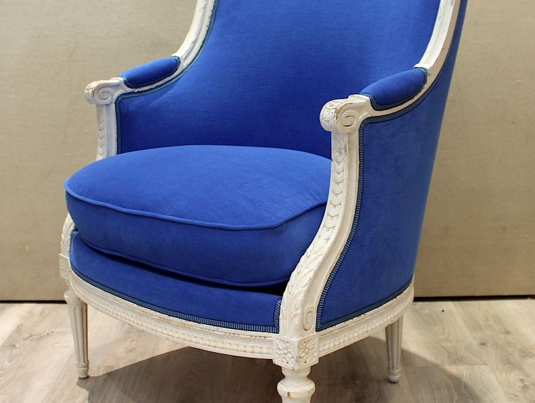 Complete réfection of cushion chair Louis XVI - Fabric editor Casal finishing braid